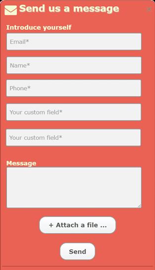 Send us a message form live chat alternative