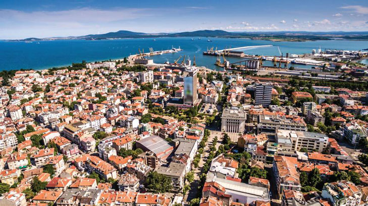 municipality of burgas picture over the city
